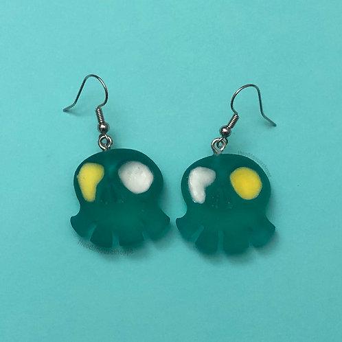 Mini Skull Flotsam and Jetsam Earrings
