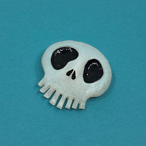 Iridescent Skull XL Brooch