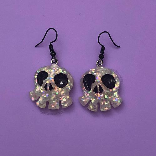 Mini Skull Iridescent Earrings
