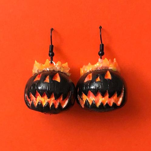 Pumpkin Fire Earrings