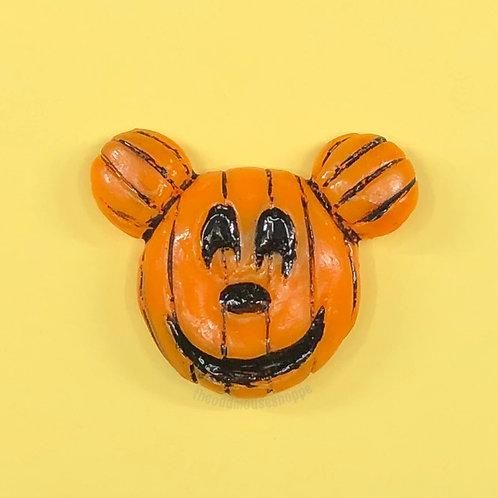 Pumpkin Mouse Brooch