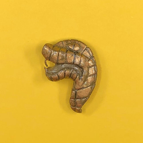 Ancient Temple Snake Brooch