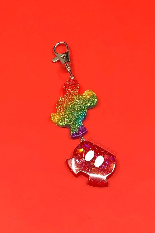 Mouse Love Fob Rainbow