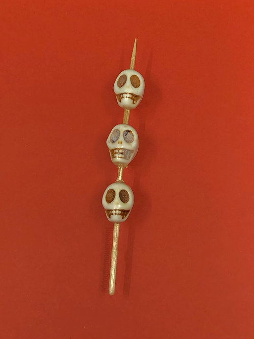 Tiki Skulls Brooch