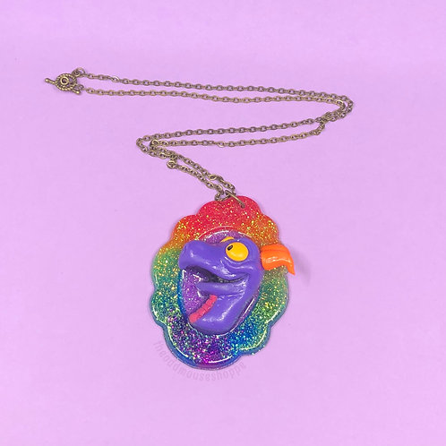 Imagination Purple Dragon Necklace