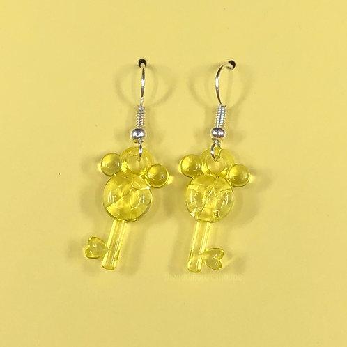 Mouse Earrings Yellow