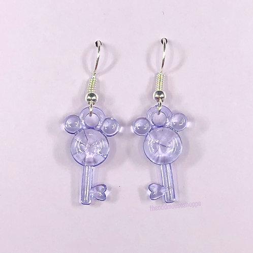 Mouse Earrings Sheer Lavender