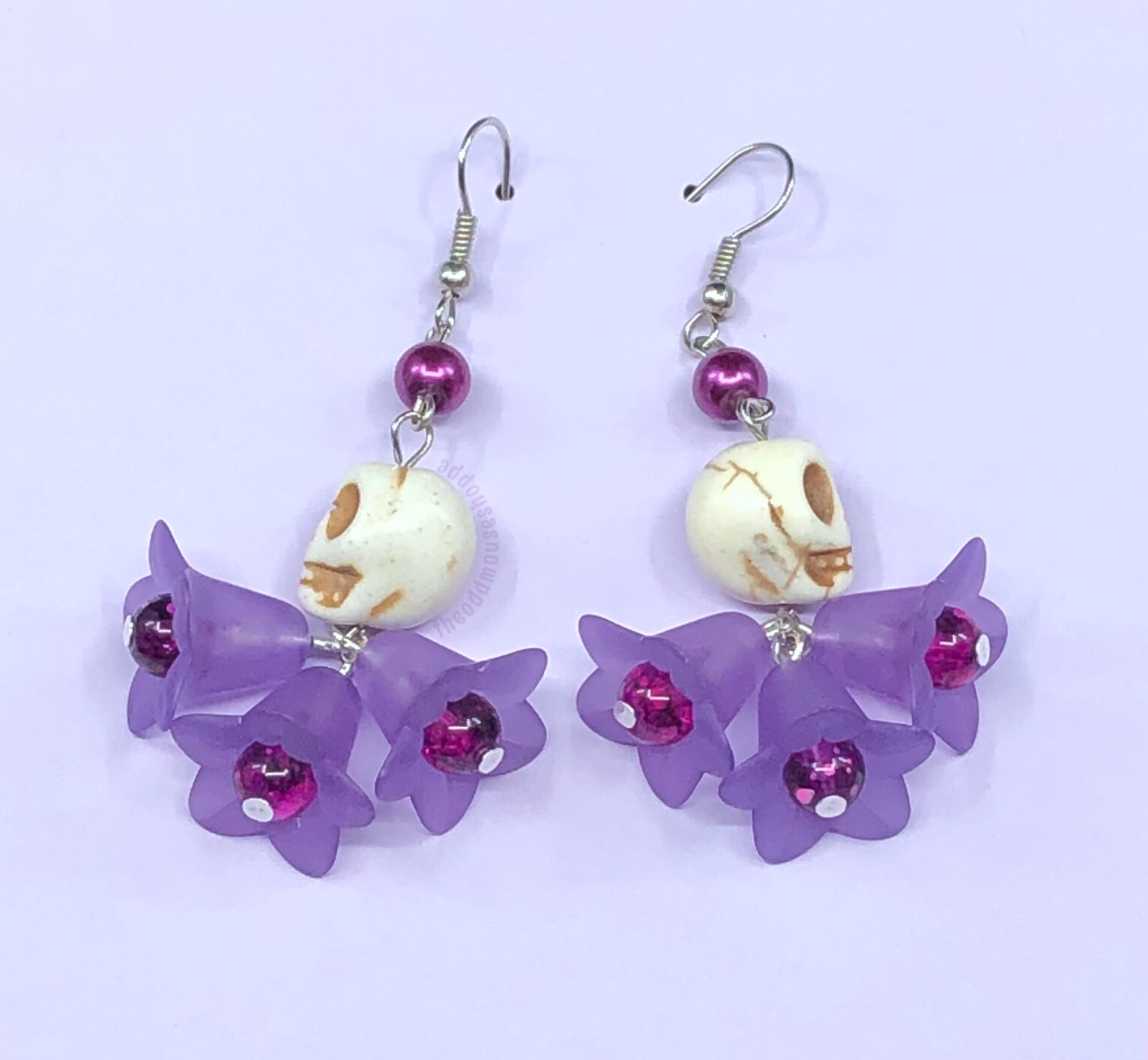 Skull Purple Earrings