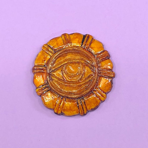 Ancient Temple Amulet Brooch