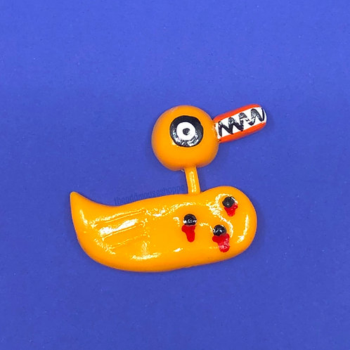 Evil Toy Duck Brooch