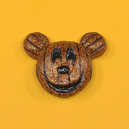 Pumpkin Mouse Glitter Brooch