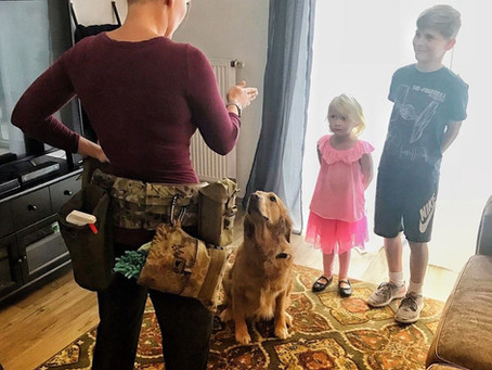"""Move over """"caddy"""" cool moms wear a tactical cleaning belt."""