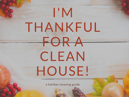November Cleaning Challenge