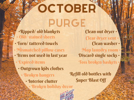 October Cleaning/ Purge Challenge!