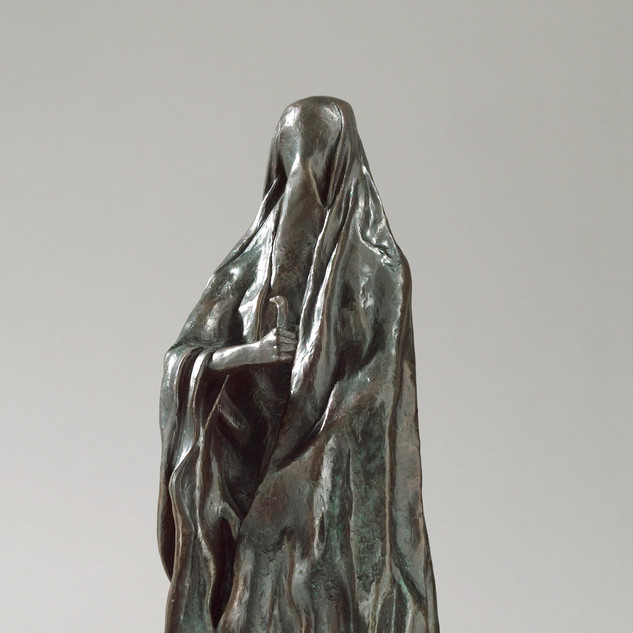 Veiled Woman with Knife