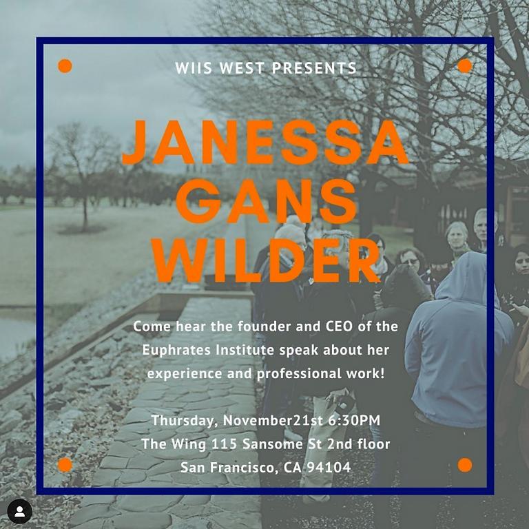 Speaker Series - Janessa Gans Wilder