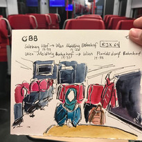Travel Sketch - Journey with the train