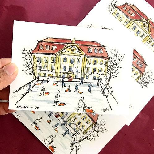 Art Postcard   Erlangen on Ice
