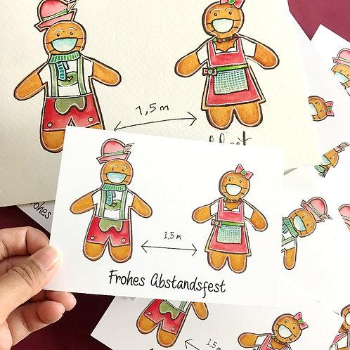 7 x Art Postcard Frohes Abstandsfest