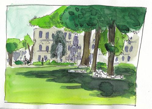 Sketch Erlangen Schlossgarten