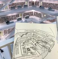 Amazing library in Stuttgart