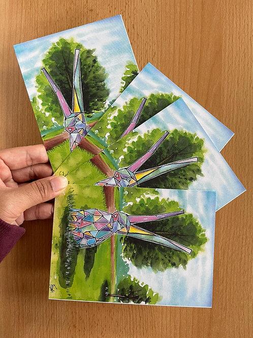 4 X Röthelheimpark Erlangen Postcard