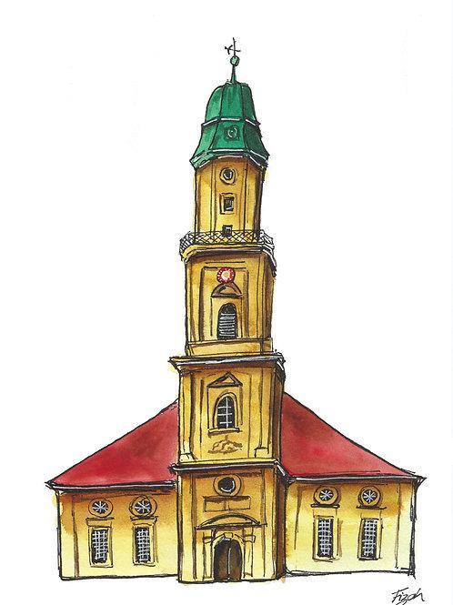 Art Postcard   Hugenottenkirche