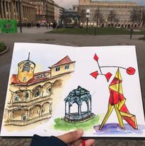 Sketches of Stuttgart.