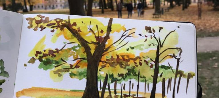 Schlossgarten in Fall