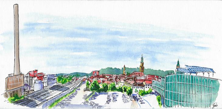 View of Erlangen