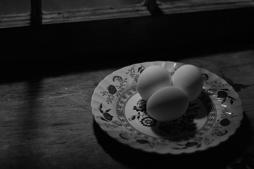 Eggs On Plate in Sun Light
