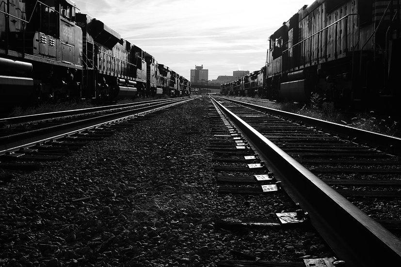 Morning Mist Train Yard.