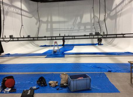 スタジオ吊り物の改修工事