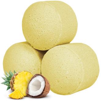 Minis boules de bain effervescent - Pinacolada  / ROKA CONCEPTS - BOUTIQUE CADEAUX INSOLITE- YVERDON-LES-BAINS