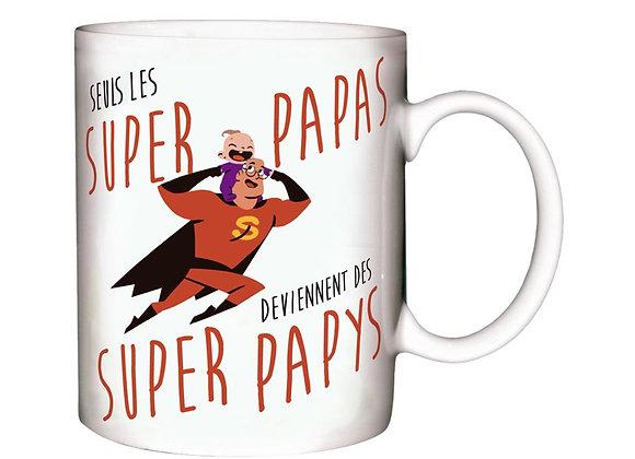 Mug Super Papa / Boutique Cadeaux Insolite / Roka La Poulpe ROKA CONCEPTS Yverdon-les-Bains