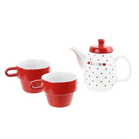 Idée Cadeaux Insolite  ROKA CONCEPTS Pack théière + 2 tasses égoïste cœur/ Boutique Cadeaux