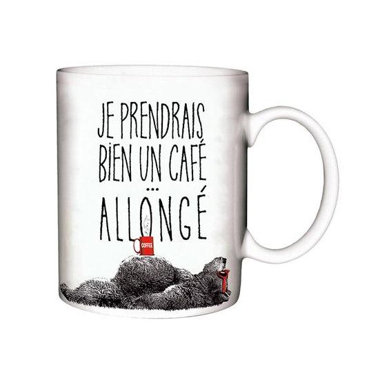 Mug  Café Allongé / Boutique Cadeaux Insolite / Roka La Poulpe ROKA CONCEPTS Yverdon-les-Bains