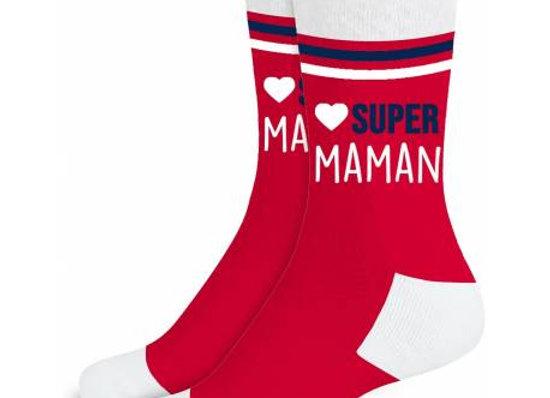 Chaussette Super Maman / ROKA CONCEPTS - BOUTIQUE CADEAUX INSOLITE - YVERDON-LES-BAINS