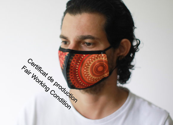 Masque Barrière - Soleil / ROKA CONCEPTS - BOUTIQUE CADEAUX INSOLITE - YVERDON-LES-BAINS