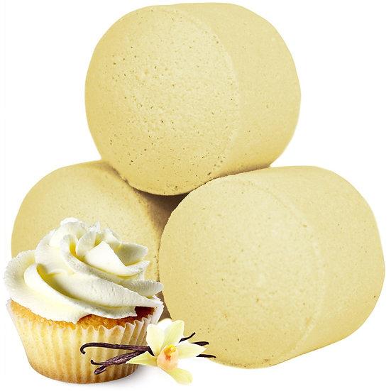 Minis boules de bain effervescent - Cupcake Vanille  / ROKA CONCEPTS - BOUTIQUE CADEAUX INSOLITE- YVERDON-LES-BAINS