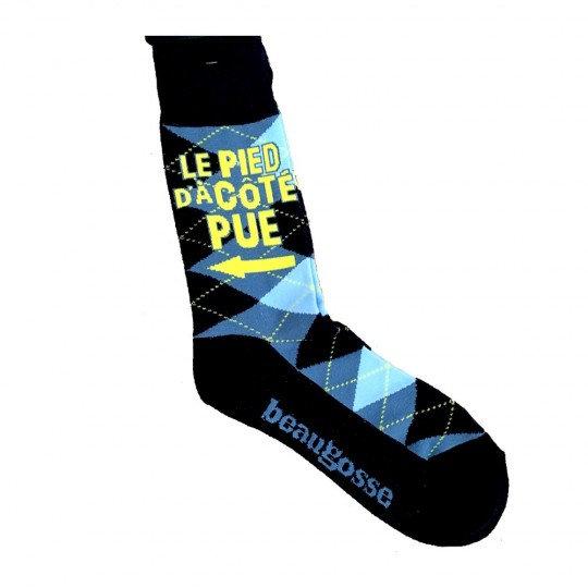 Chaussette - Le pieds d'à côté Pue ! / ROKA CONCEPTS - BOUTIQUE CADEAUX INSOLITE - YVERDON-LES-BAINS
