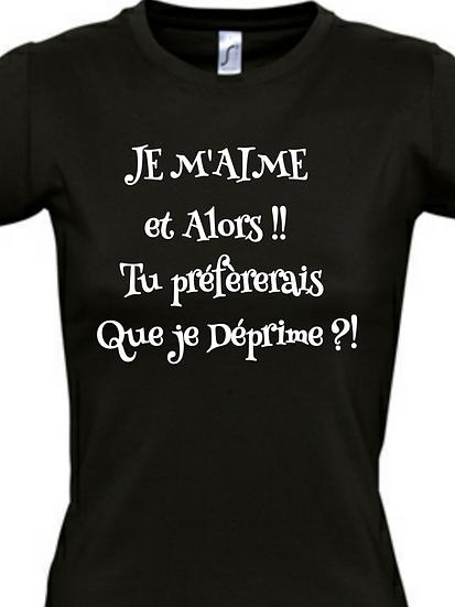 T-Shirt / Humour - JE M'AIME / ROKTOPODE de Roka La Poulpe avec ROKA CONCEPTS - BOUTIQUE CADEAU - YVERDON-LES-BAINS