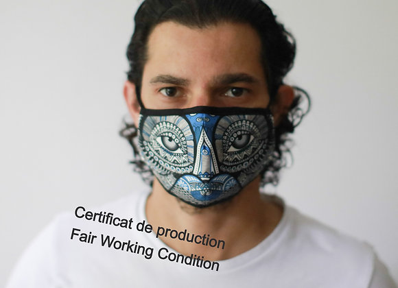Masque Barrière - Hiboux / ROKA CONCEPTS - BOUTIQUE CADEAUX INSOLITE - YVERDON-LES-BAINS