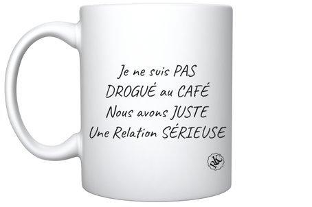 MUG / Drogué du café / La Marque ROTOPODE de Roka La Poulpe avec ROKA CONCEPTS - BOUTIQUE CADEAU INSOLITE- YVERDON-LES-BAINS