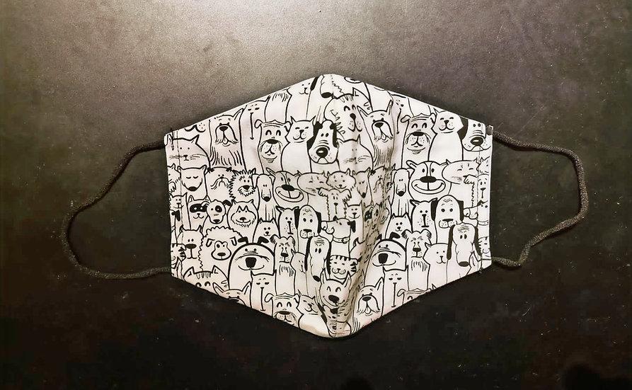 Masque Barrière/ Chiens / Création Roka Concepts / ROKA CONCEPTS - BOUTIQUE CADEAUX INSOLITE - YVERDON-LES-BAINS