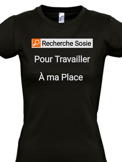 T-Shirt / Humour - Recherche Sozie / ROKTOPODE de Roka La Poulpe avec ROKA CONCEPTS - BOUTIQUE CADEAU - YVERDON-LES-BAINS