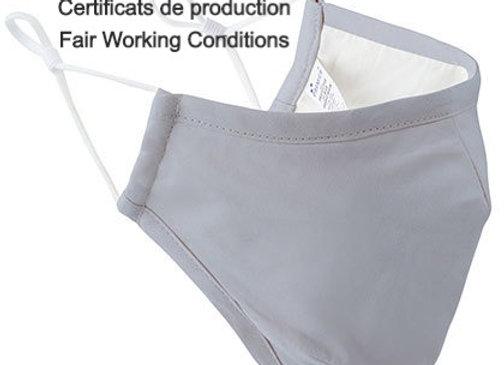 Masque - Certificat production Fair Working Conditions - ROKA CONCEPTS - BOUTIQUE CADEAUX INSOLITE - YVERDON-LES-BAINS