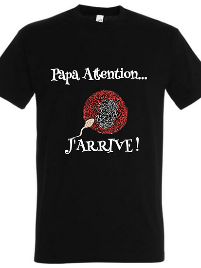T-Shirt / Futur Papa / ROKTOPODE de Roka La Poulpe avec ROKA CONCEPTS - BOUTIQUE CADEAU - YVERDON-LES-BAINS