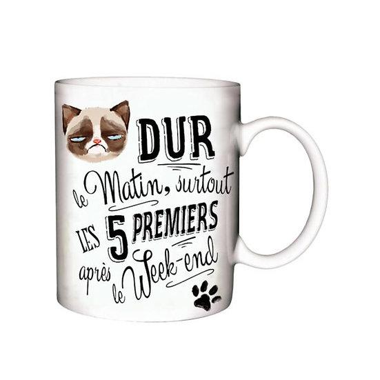 Mug Dur le Matin / Boutique Cadeaux Insolite / Roka La Poulpe ROKA CONCEPTS Yverdon-les-Bains