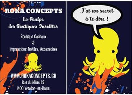 BON CADEAU / Bon Cadeau / ROKA CONCEPTS - BOUTIQUE INSOLITE - IMPRESSION TEXTILE - YVERDON-LES-BAINS